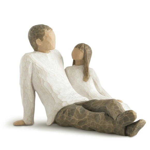Father and Daughter Willow Tree Hand-carved figure